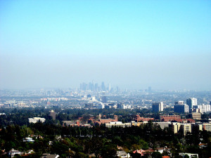 """LA from the Getty"" by Thomas - originally posted to Flickr as LA from the Getty. Licensed under CC BY 2.0 via Wikimedia Commons."